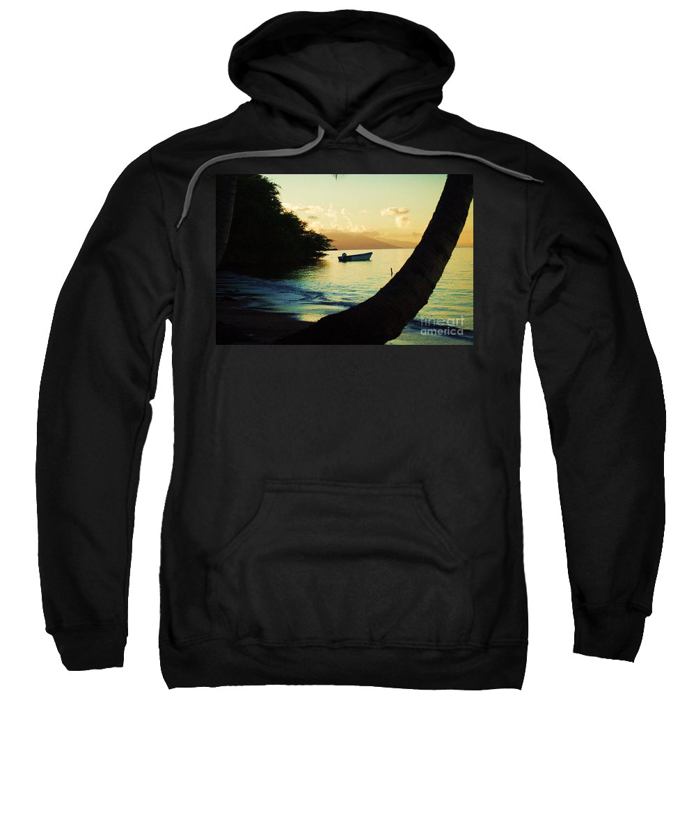 Molokai Sweatshirt featuring the photograph Molokai Beach by Terry Holliday
