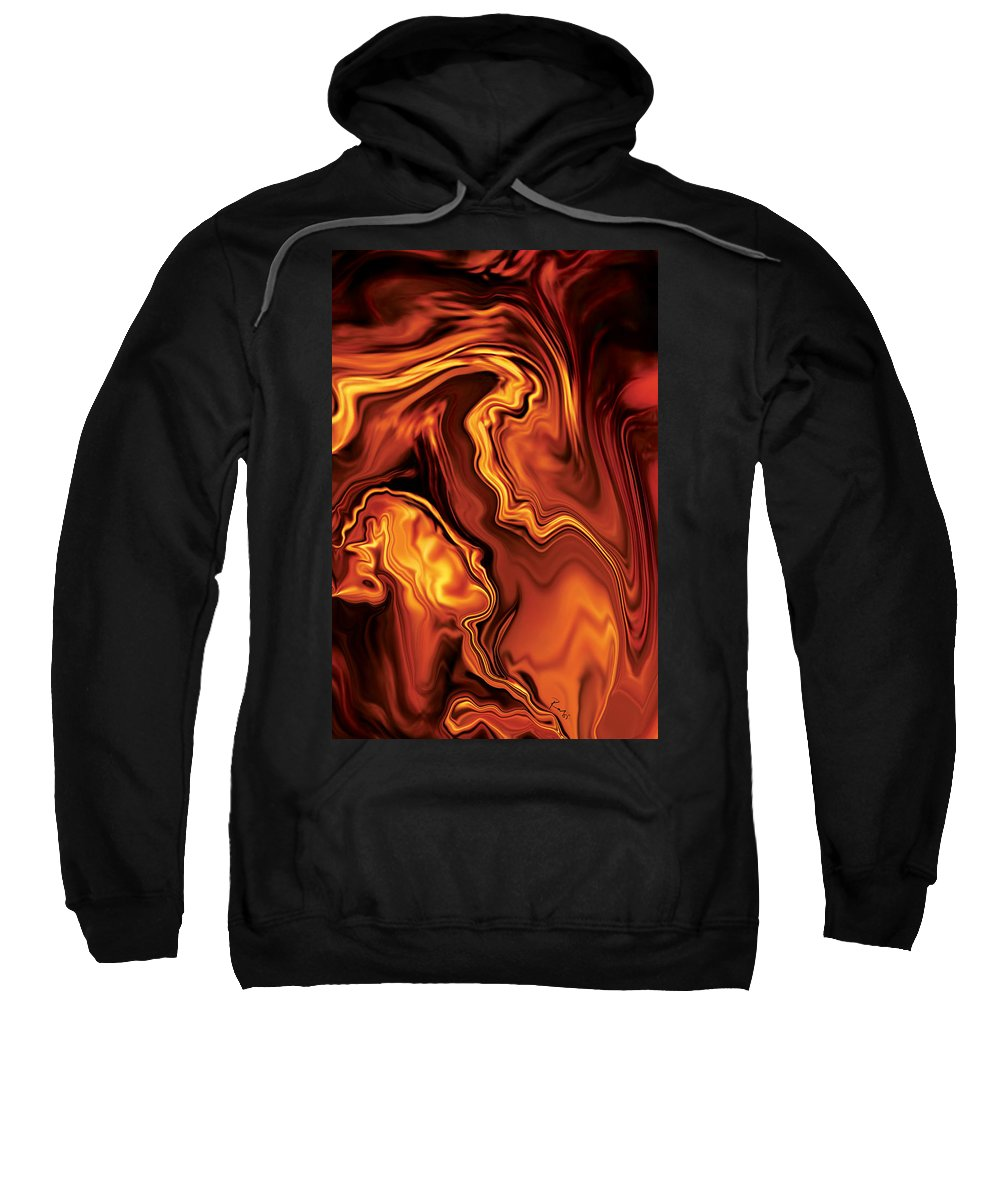 Lover Sweatshirt featuring the digital art Moment Before The Kiss-2 by Rabi Khan
