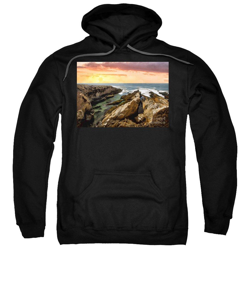 Montana De Oro Sweatshirt featuring the photograph Montana De Oro Shore II by Sharon Foster