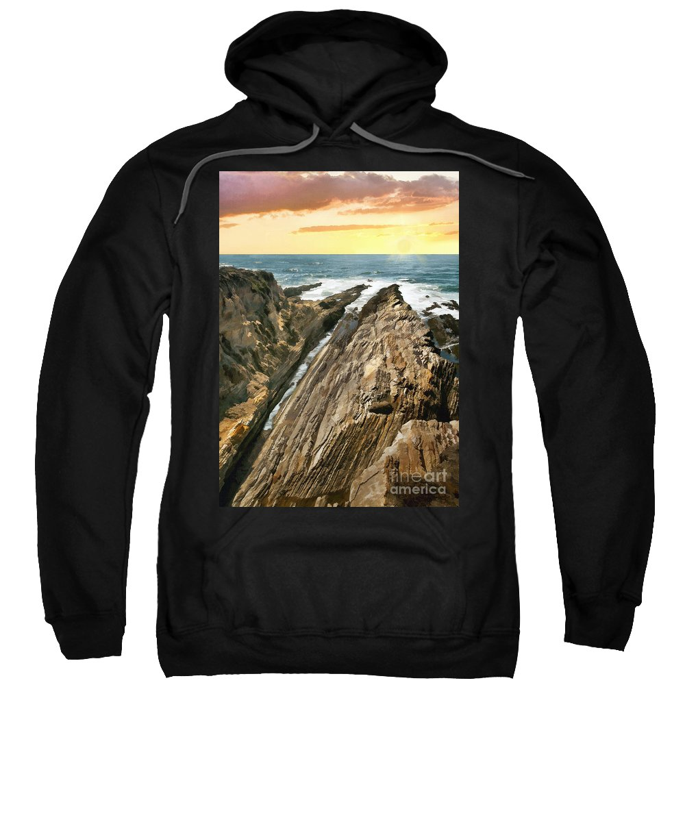 California Sweatshirt featuring the photograph Montana De Oro Shore by Sharon Foster