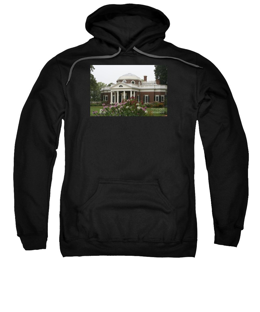 Monticello Sweatshirt featuring the photograph Monticello Estate by Christiane Schulze Art And Photography