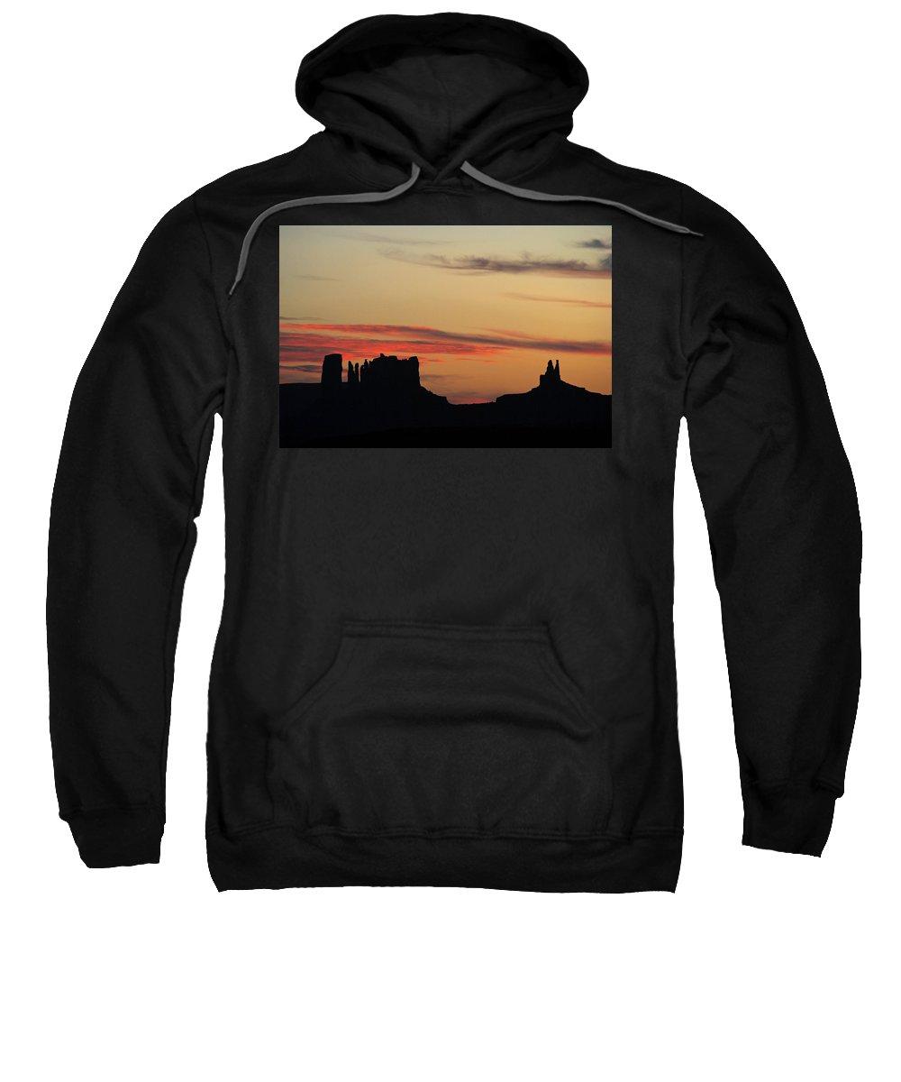 Justjeffaz Sweatshirt featuring the photograph Monument Valley Sunset 1 by Jeff Brunton