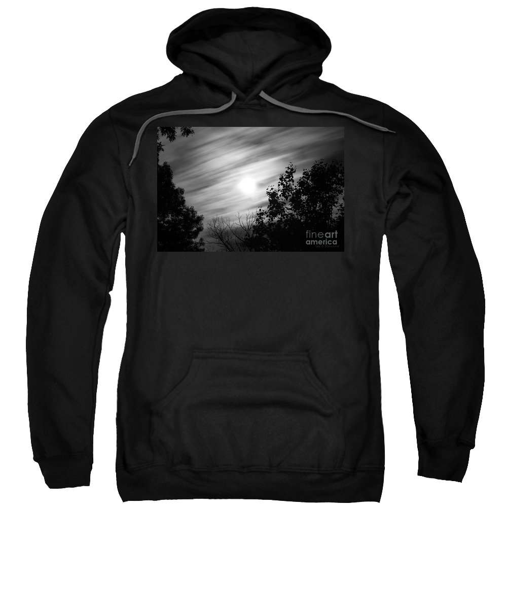 Moon Sweatshirt featuring the photograph Moonlit Clouds by Todd Blanchard