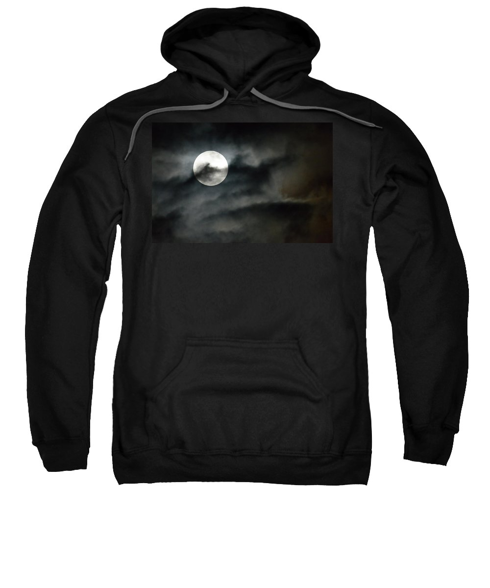 Moon Sweatshirt featuring the photograph Moonlit Dreams by Fotosas Photography
