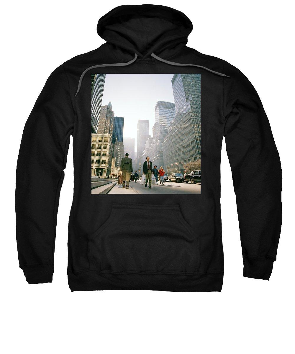 New York Sweatshirt featuring the photograph Morning In Manhattan by Shaun Higson