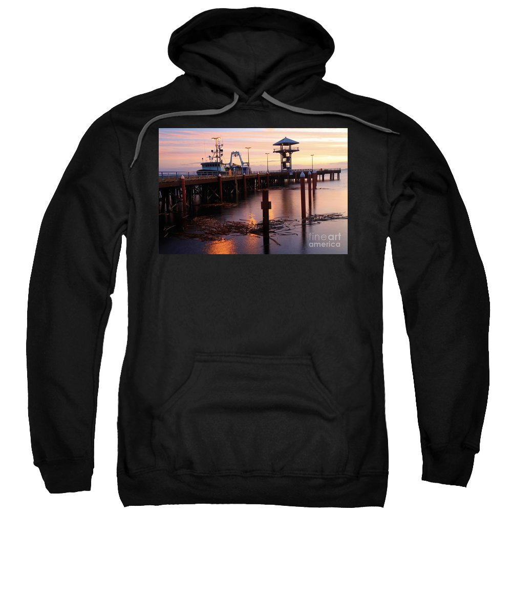 Port Angles Sweatshirt featuring the photograph Morning Light At Port Angeles by Adam Jewell