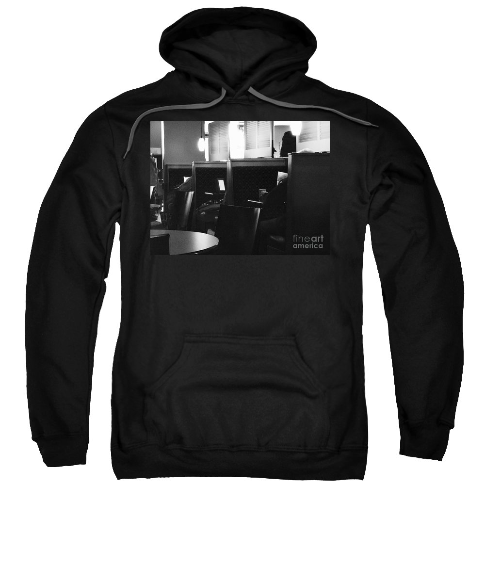 News Sweatshirt featuring the photograph Morning News - Monochrome by Frank J Casella
