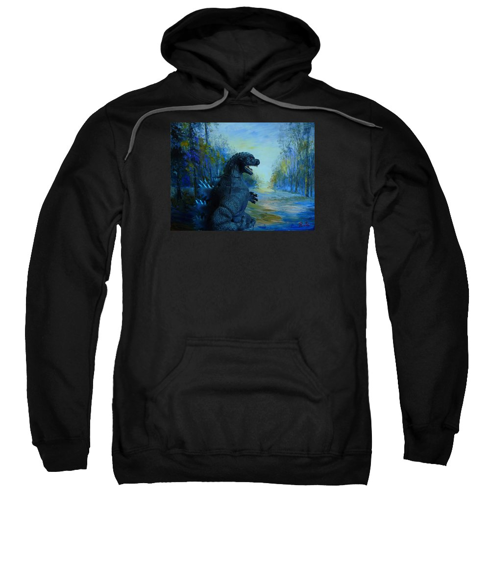 Landscape Sweatshirt featuring the painting Morning Walk by Pusita Gibbs