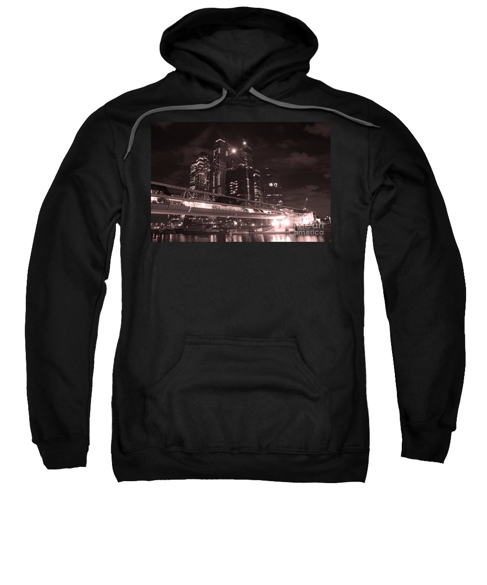 Night Sweatshirt featuring the photograph Moscow At Night by Lali Kacharava