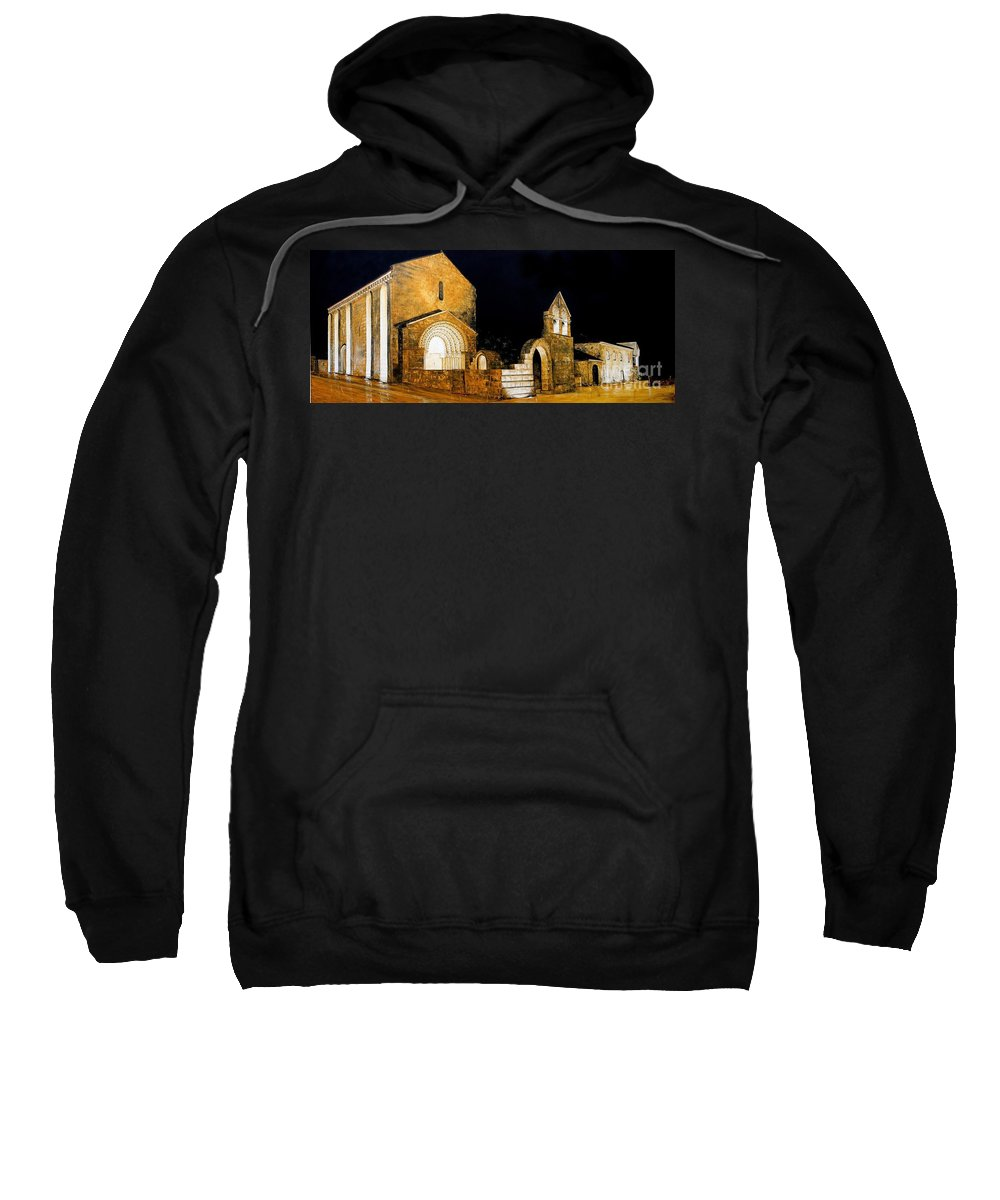 Romanesque Monastery Sweatshirt featuring the painting Mosteiro De Ferreira by J C Moreira