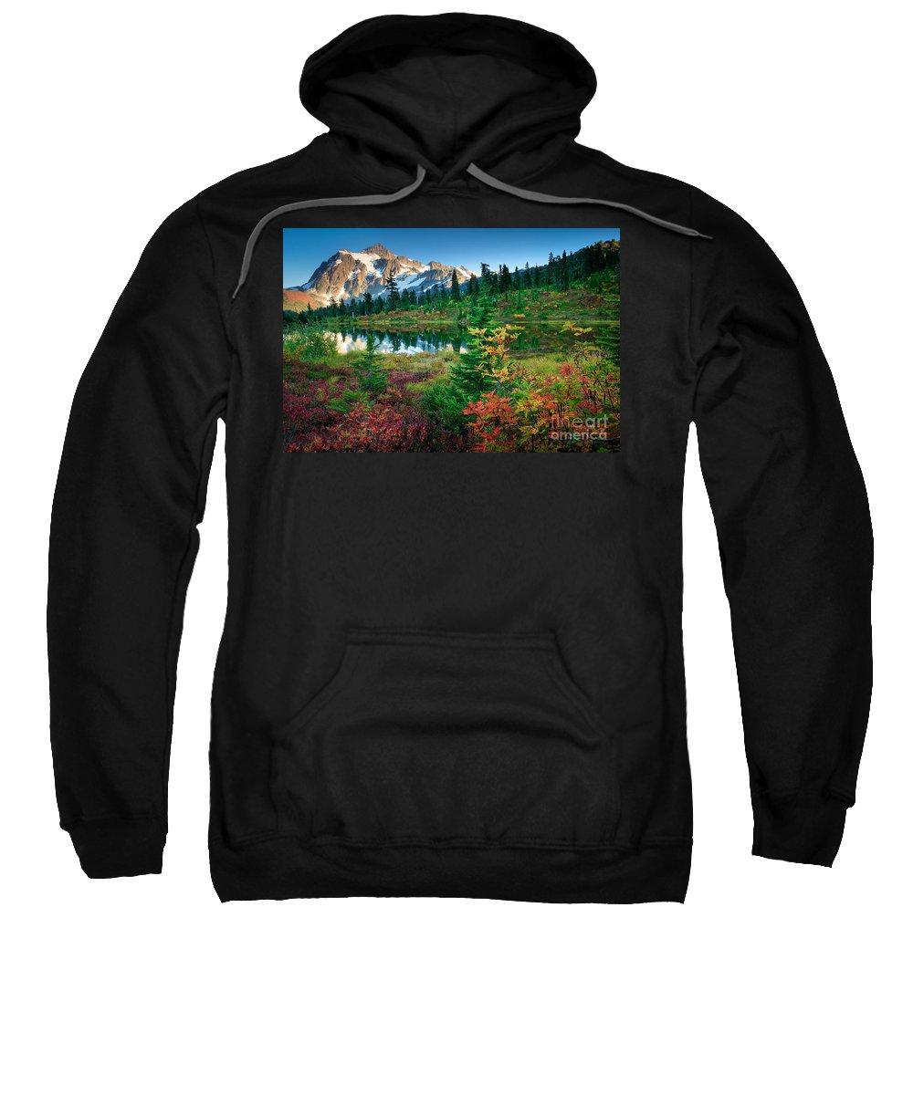 America Sweatshirt featuring the photograph Mount Shuksan Fall Cornucopia by Inge Johnsson