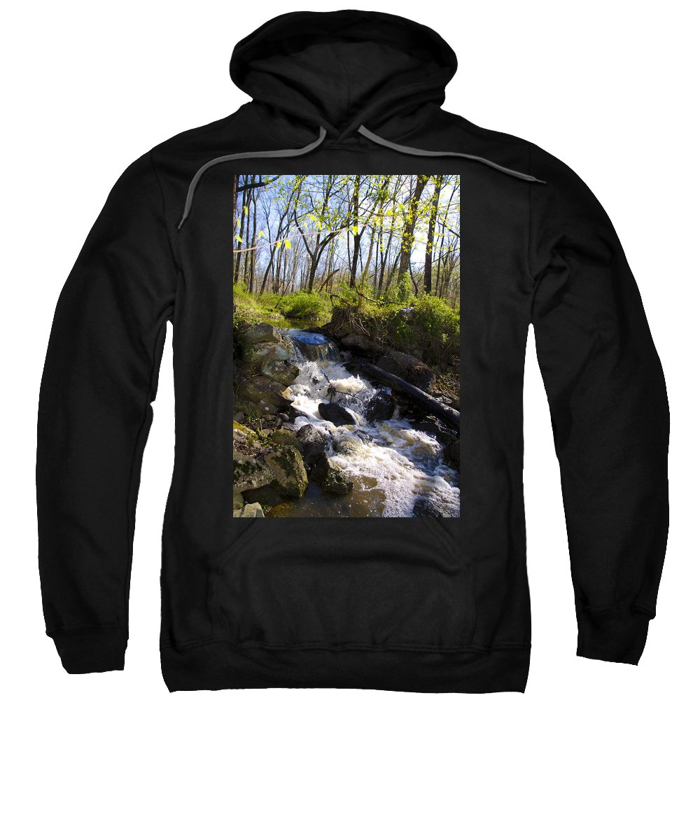 Mountain Sweatshirt featuring the photograph Mountain Creek In Spring by Bill Cannon