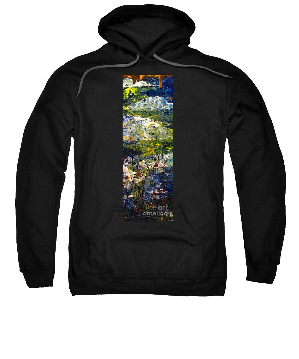 Water Sweatshirt featuring the painting Mountain Creek by Jacqueline Athmann