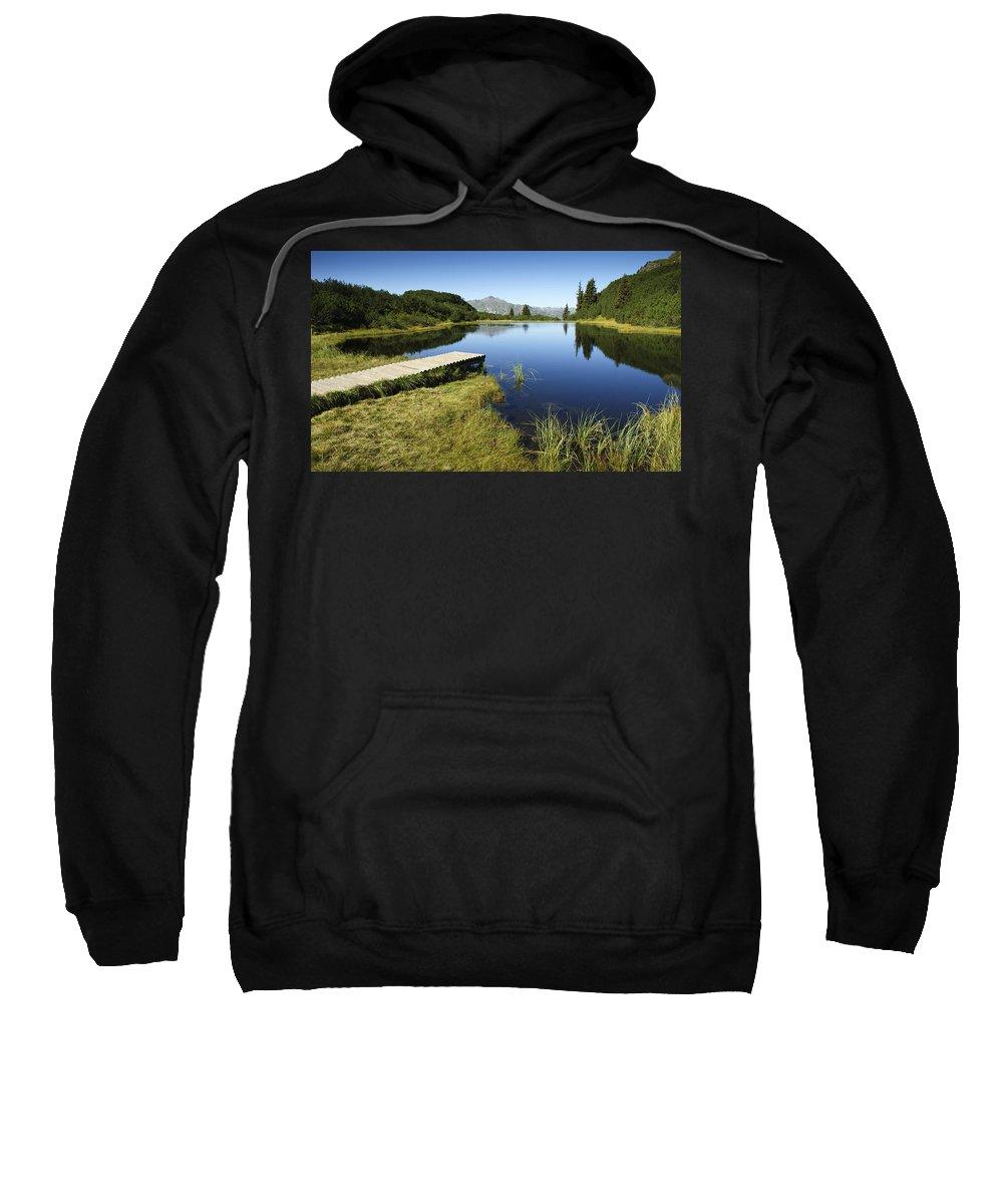 Mountain Sweatshirt featuring the photograph Mountain Lake by Chevy Fleet