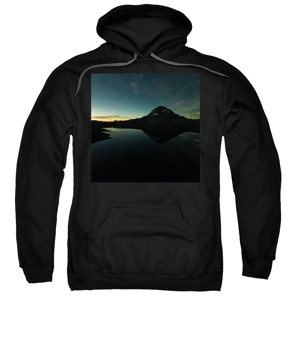 Landscape Sweatshirt featuring the photograph Mountain Morning Star by Hakon Soreide