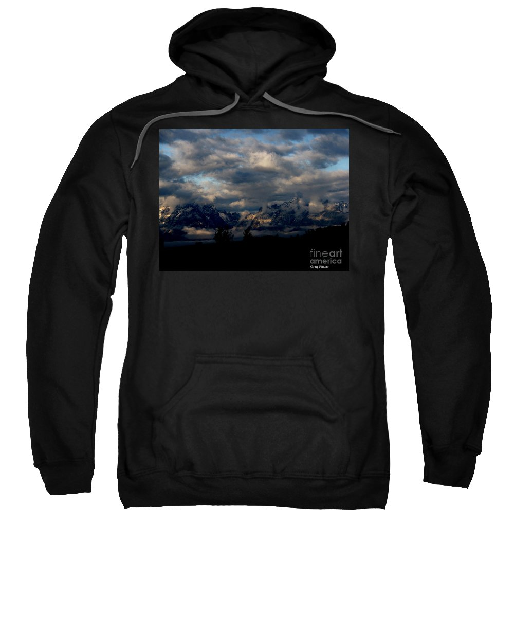 Patzer Sweatshirt featuring the photograph Mountain Silhouette by Greg Patzer