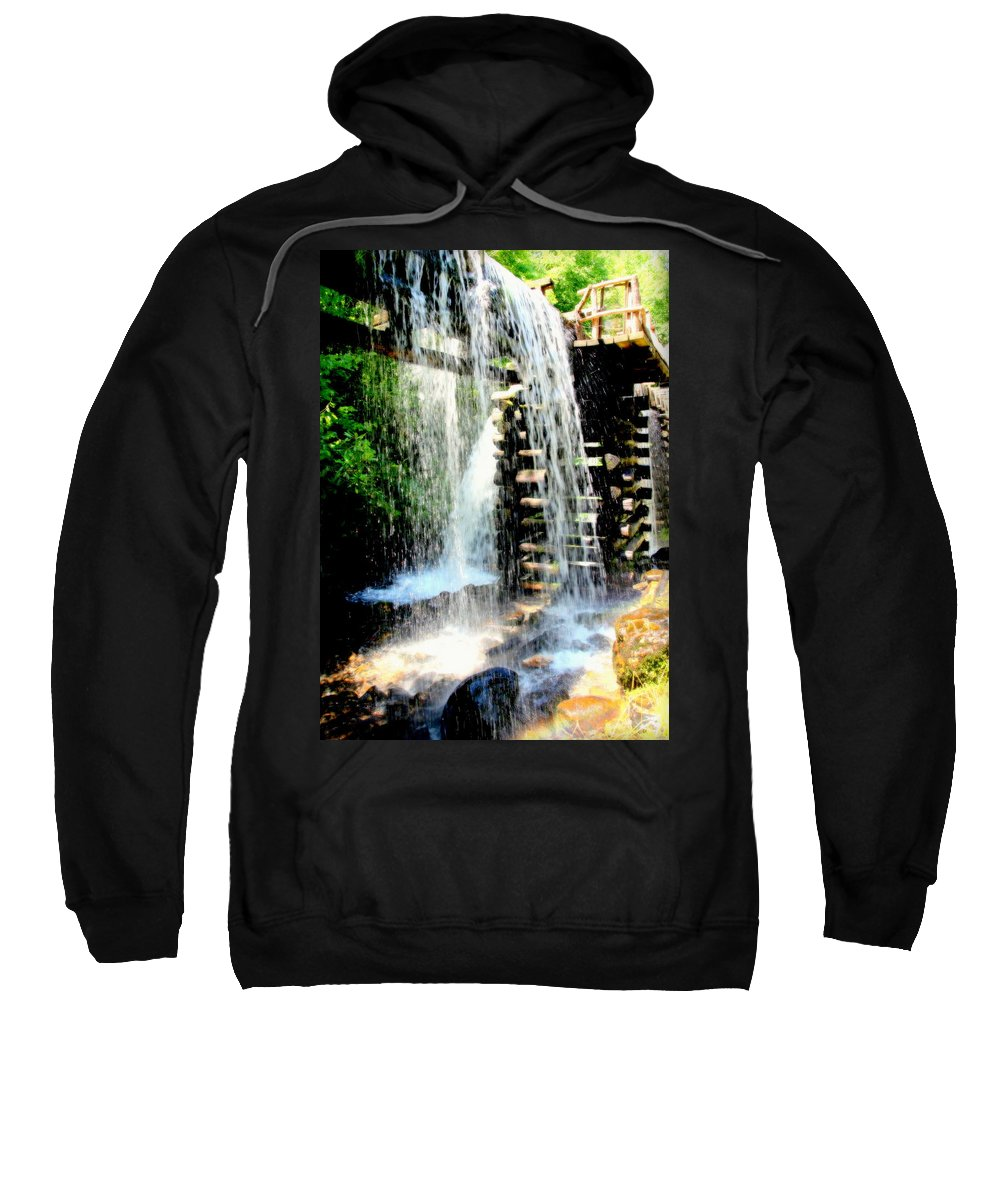 Mingus Mill Sweatshirt featuring the photograph Mountain Waters by Karen Wiles