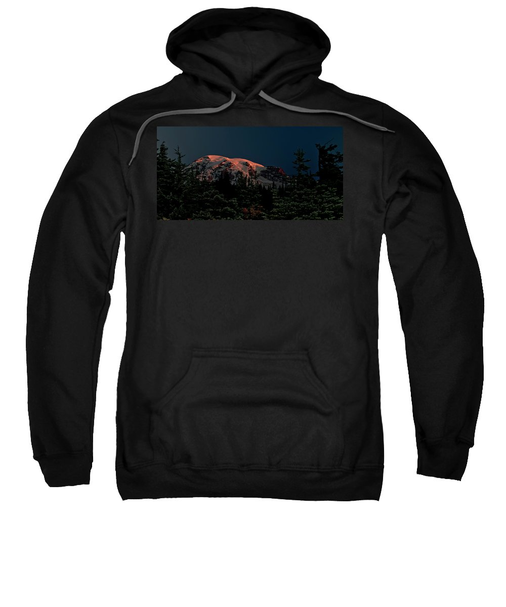 Mt Rainier Sweatshirt featuring the photograph Mt Rainier At Dawn by Albert Seger