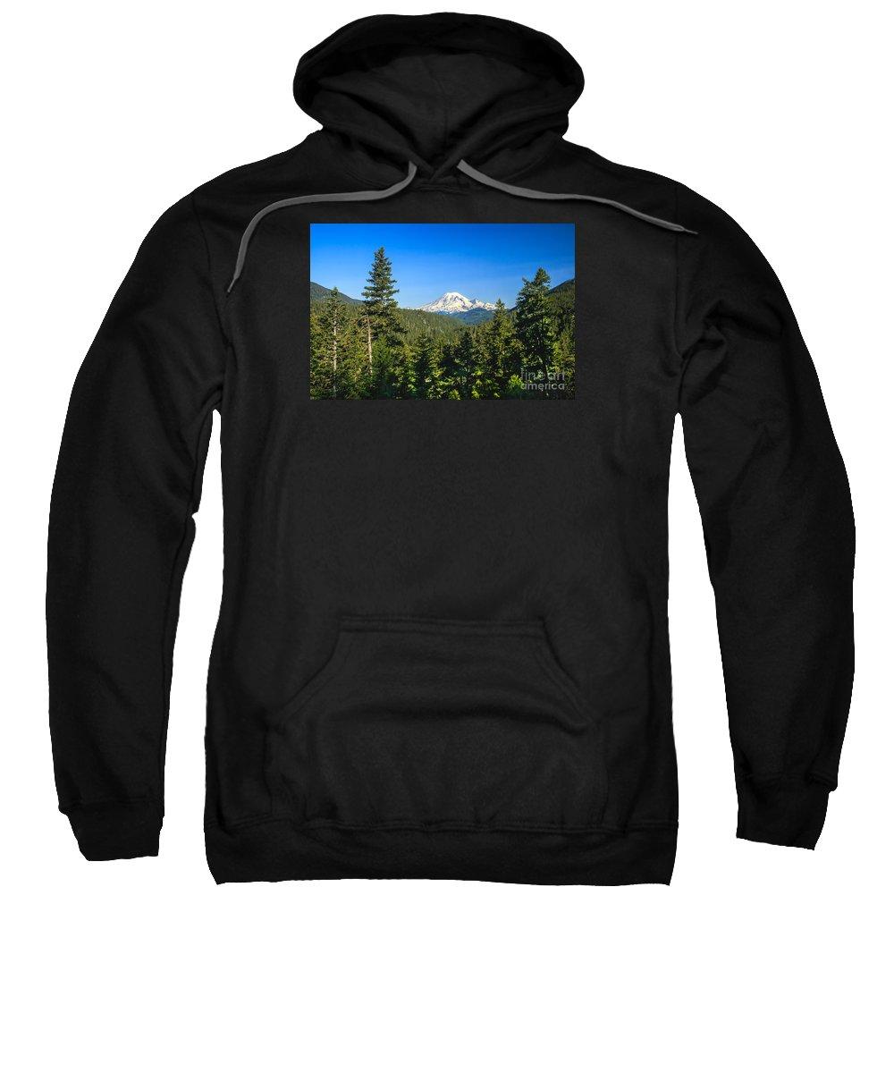 Mountain Sweatshirt featuring the photograph Mt Rainier by Robert Bales
