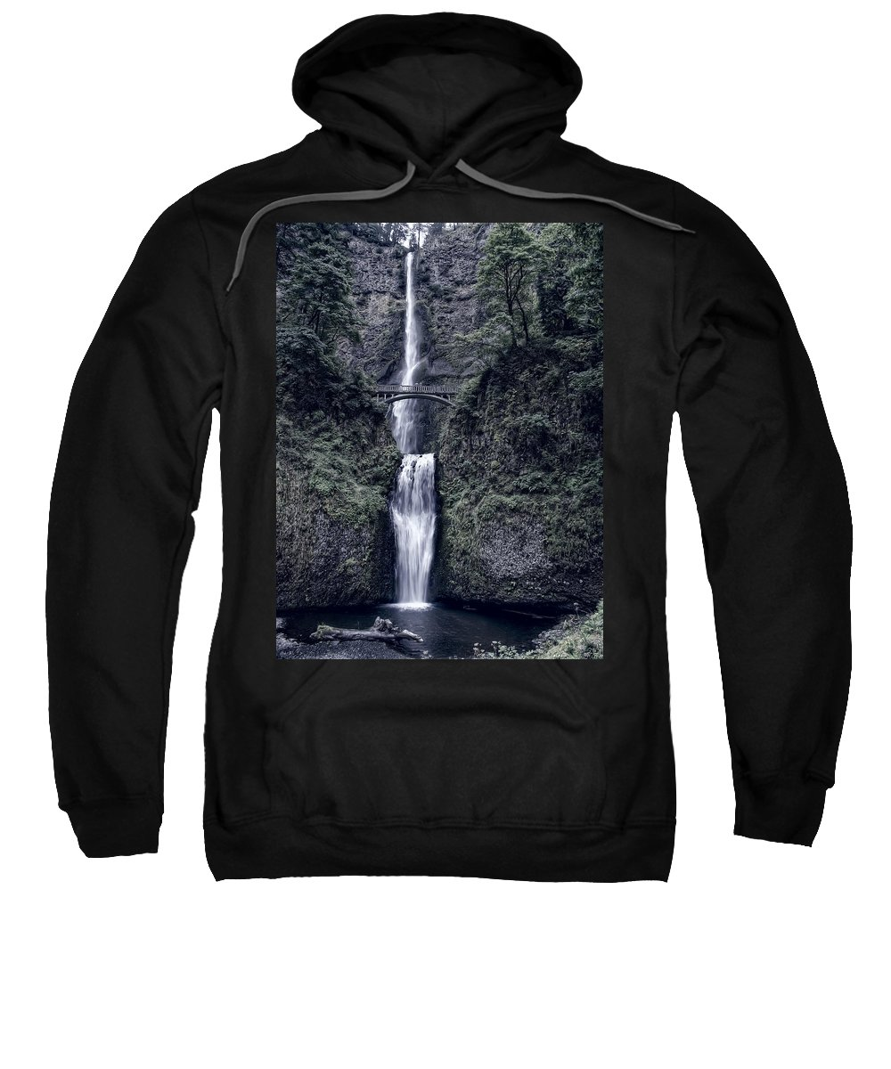 Waterfall Sweatshirt featuring the photograph Multnomah Falls - Columbia Gorge - Oregon State by Daniel Hagerman