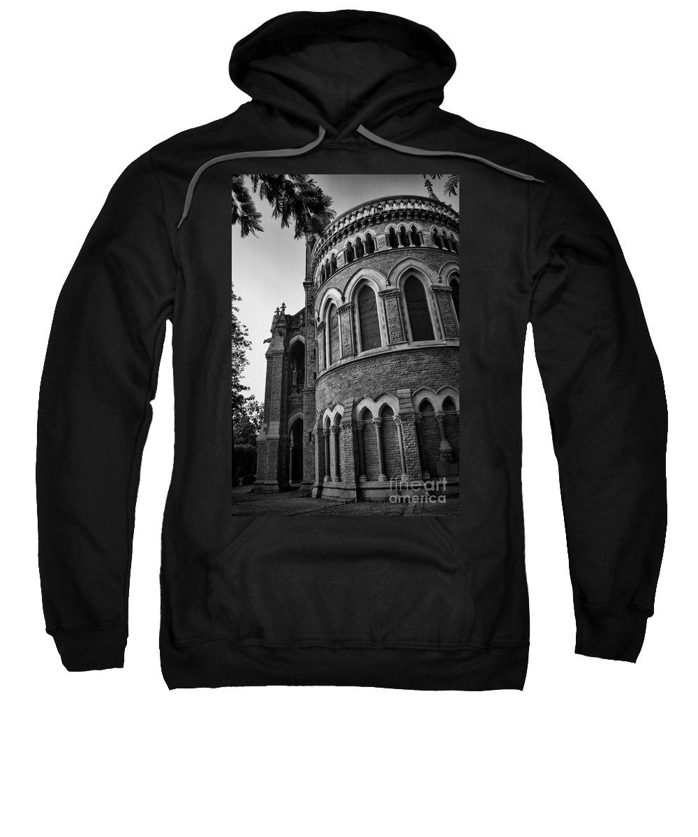Mumbai Sweatshirt featuring the photograph Mumbai University Bw by Matthew Naiden