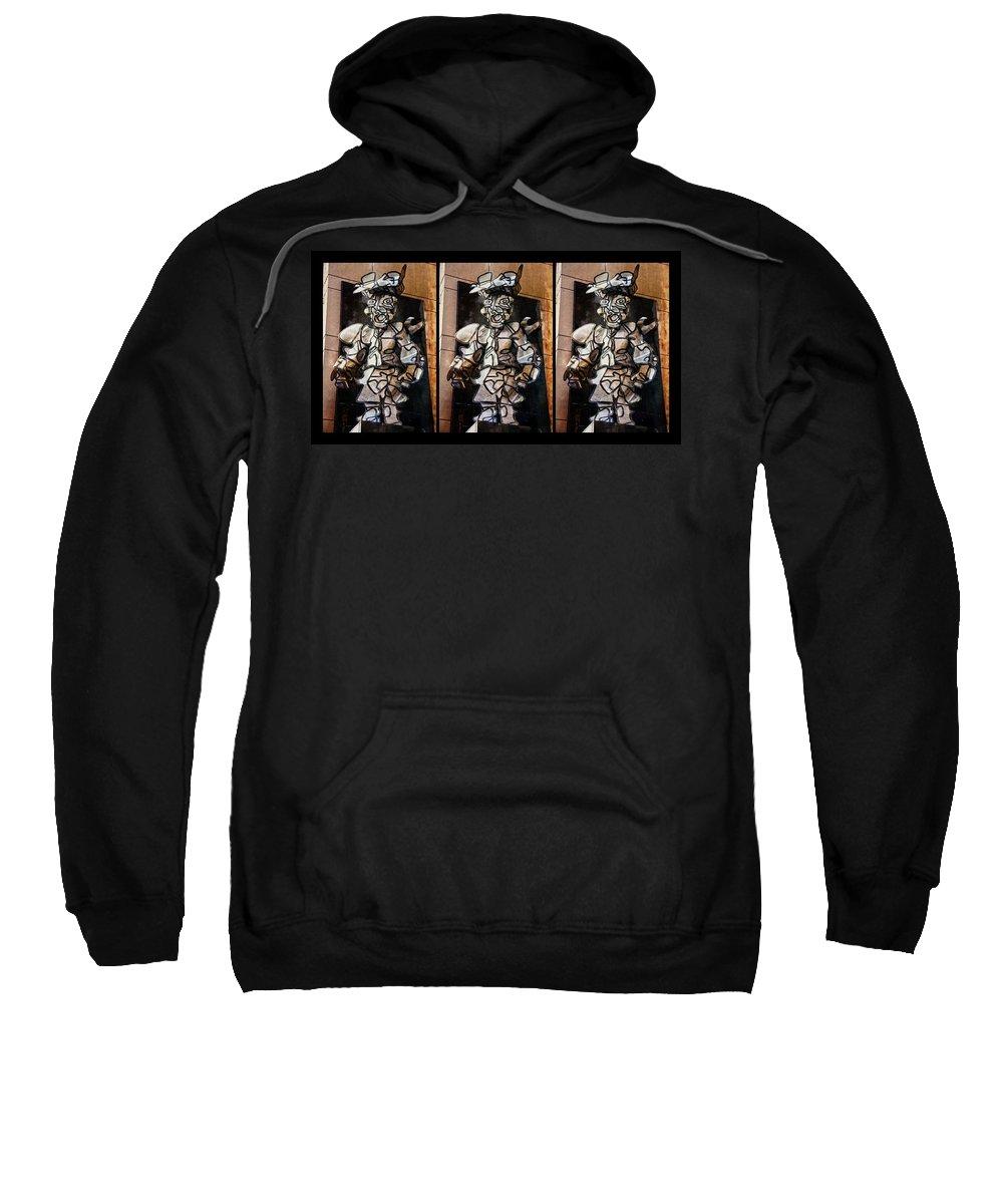 Mummer Man Sweatshirt featuring the photograph Mummer Man Triptych by Alice Gipson