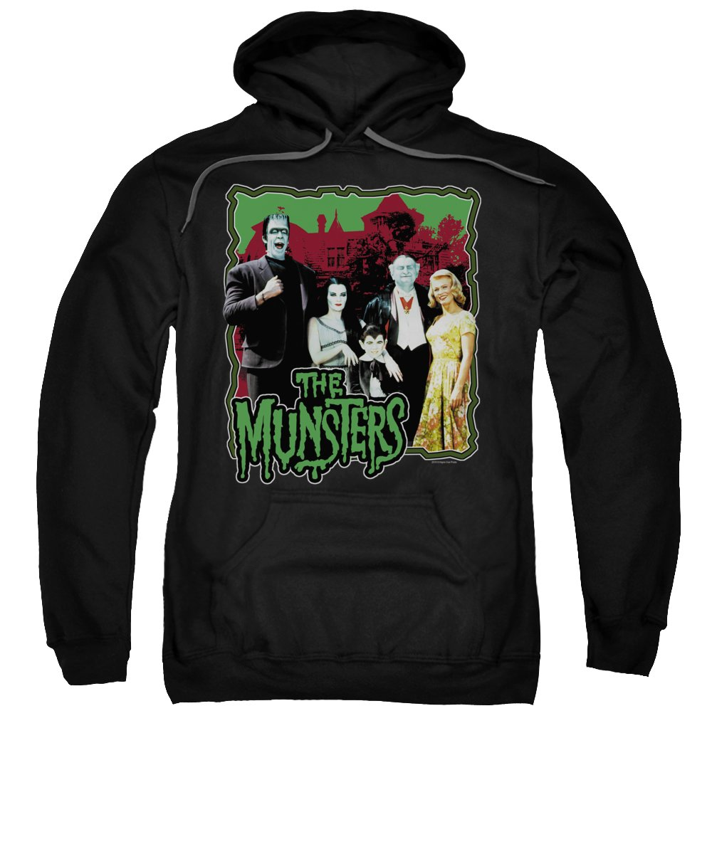 Munsters Sweatshirt featuring the digital art Munsters - Normal Family by Brand A