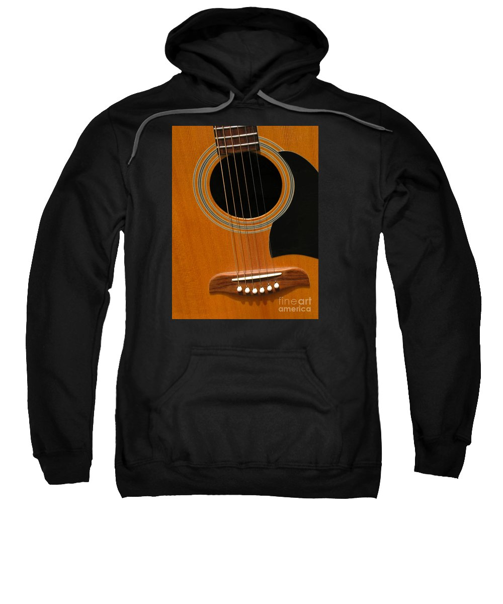 Guitar Sweatshirt featuring the photograph Musical Abstraction by Ann Horn