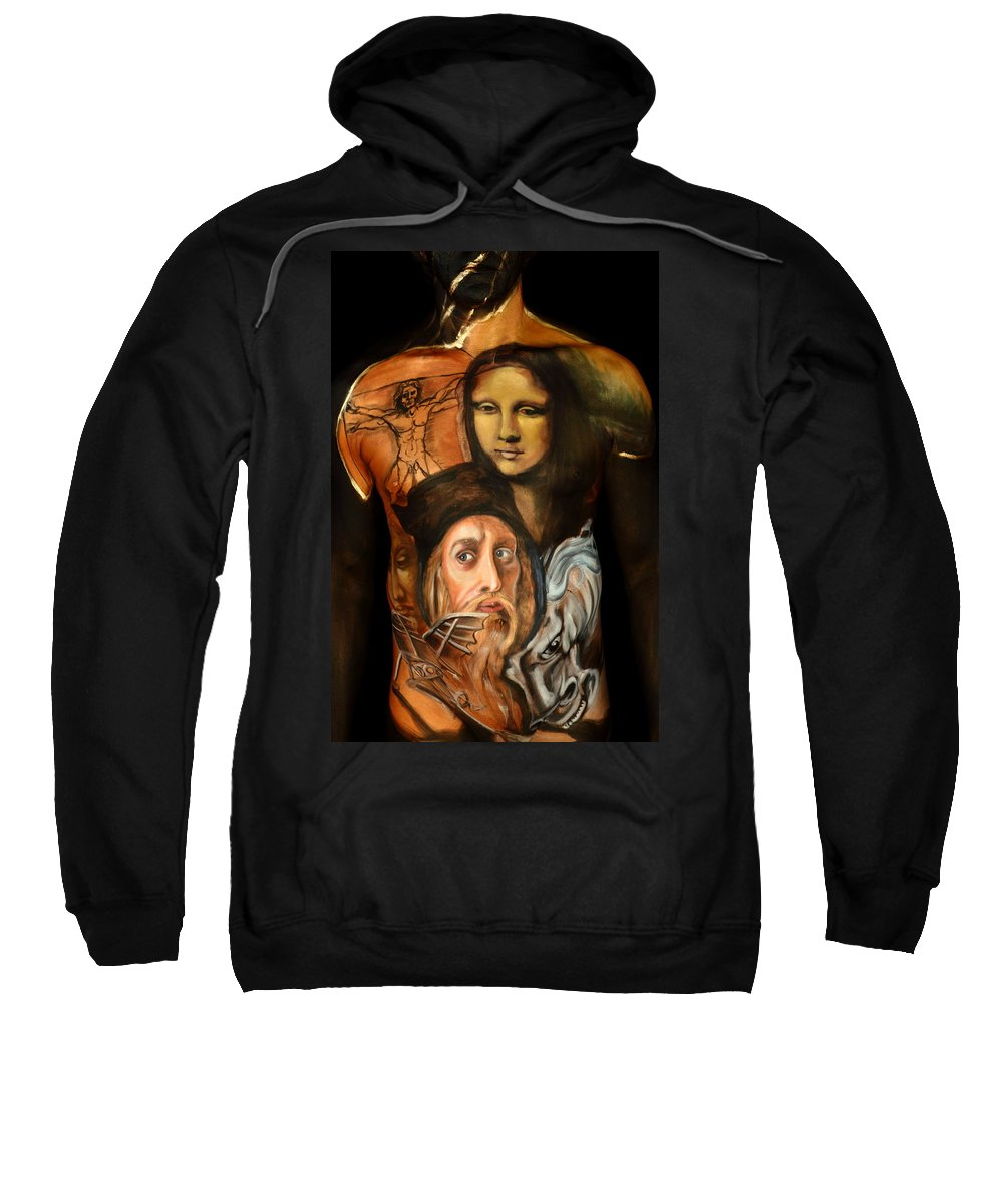 Fine Art Body Paint Sweatshirt featuring the photograph My Love by Angela Rene Roberts and Cully Firmin
