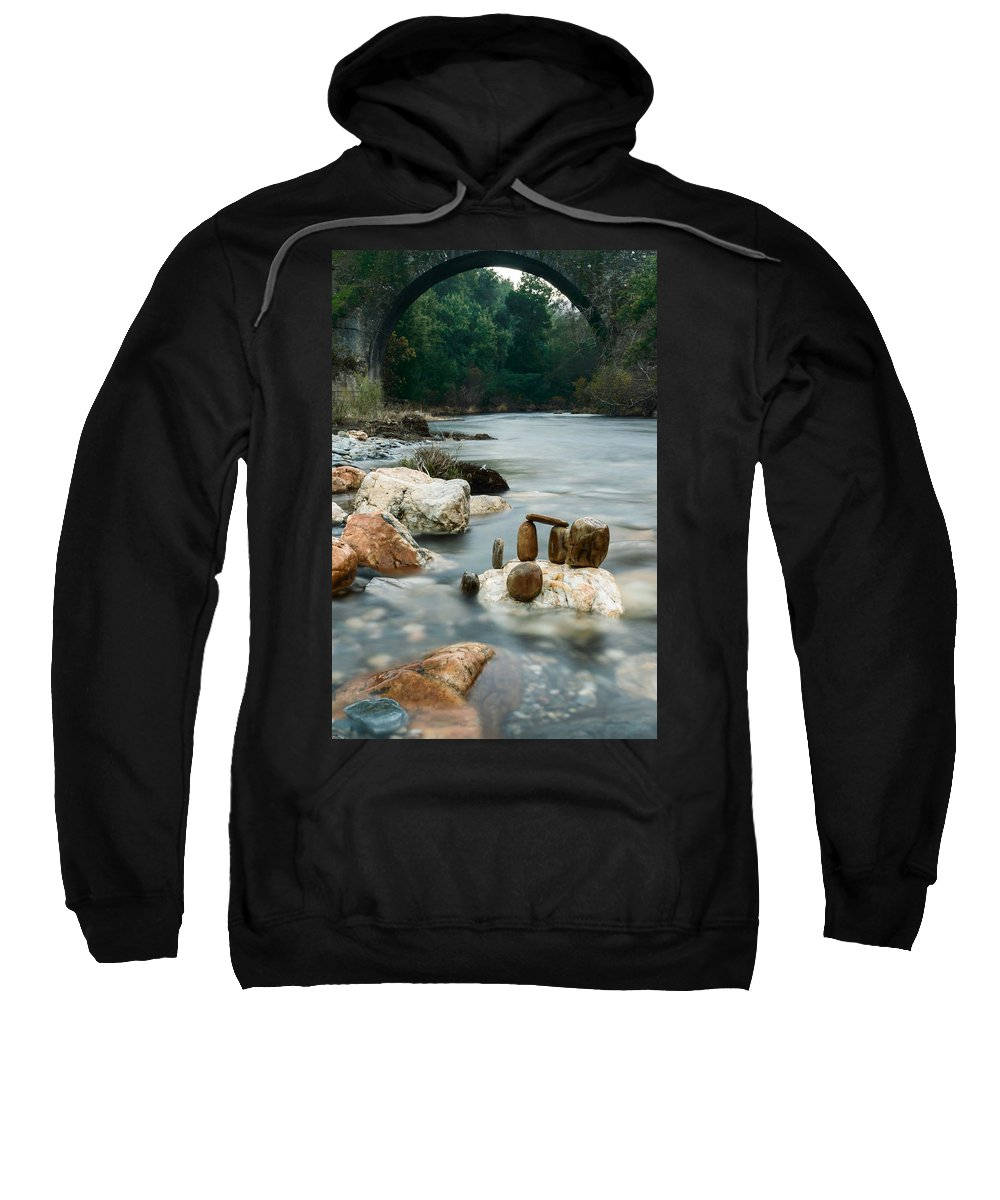 River Sweatshirt featuring the photograph Mystic River I by Marco Oliveira