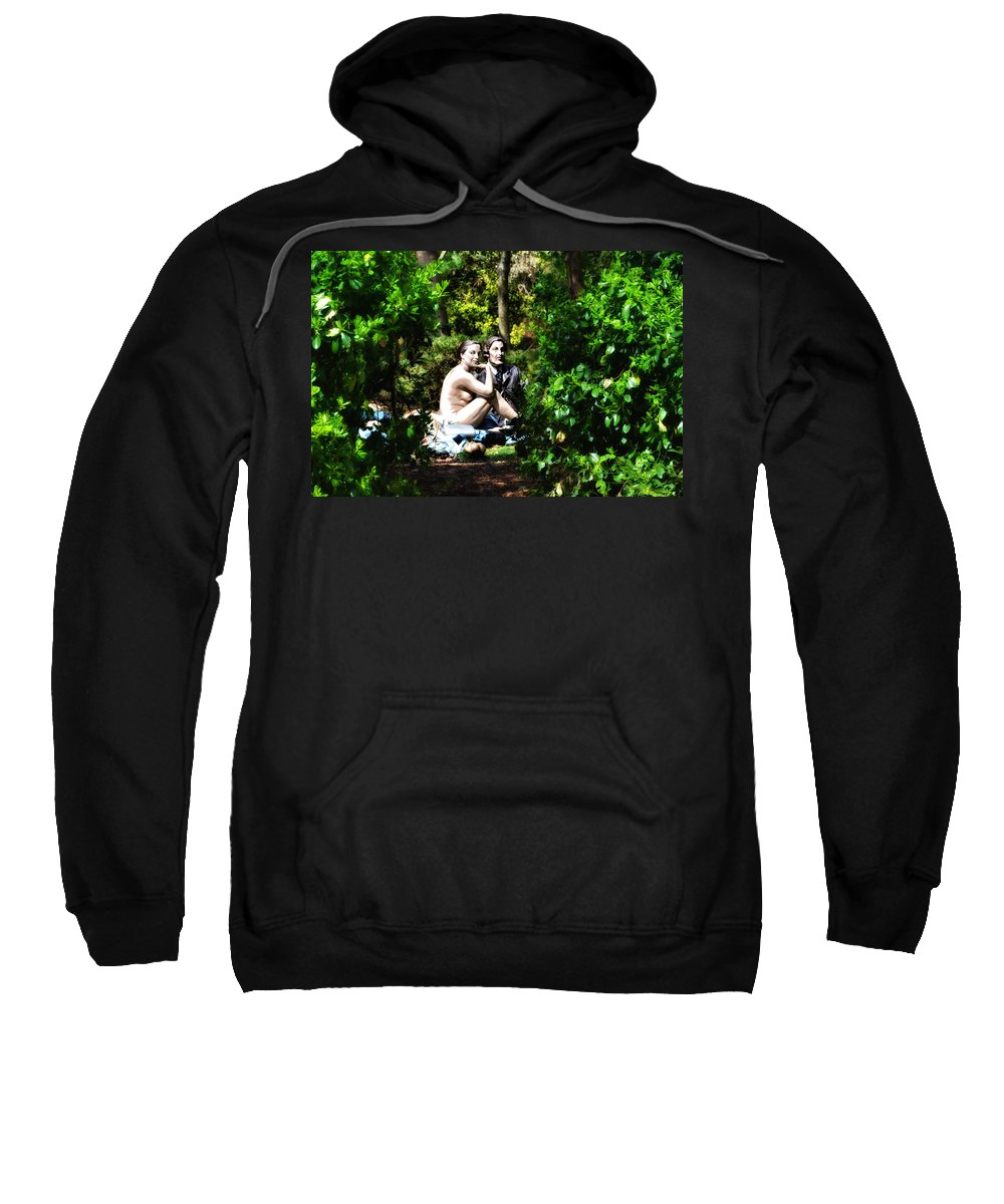 Naked Sweatshirt featuring the photograph Naked Lunch by Bill Cannon