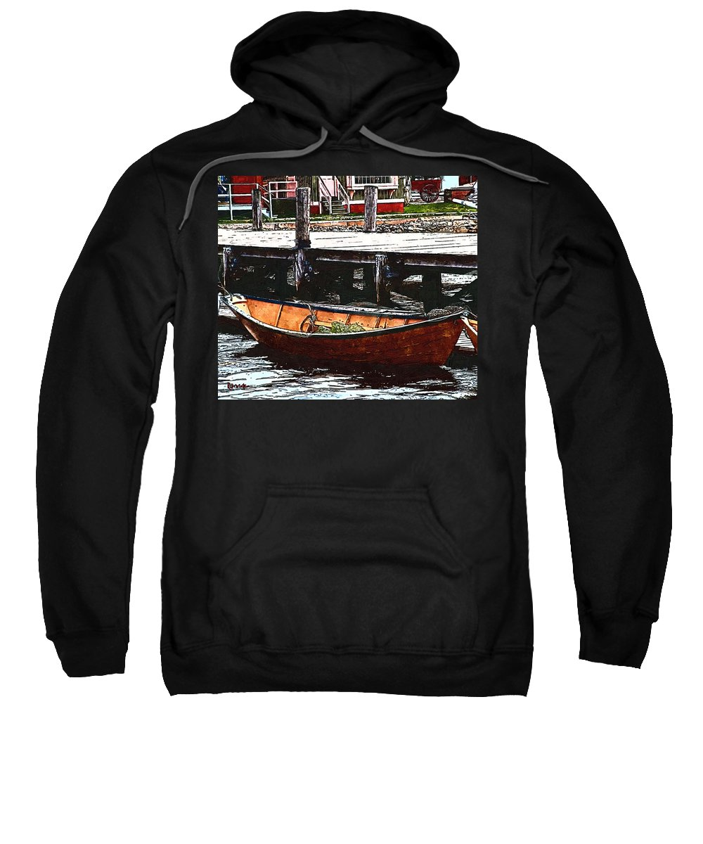 Boats Sweatshirt featuring the painting Nantucket Sleigh Ride Whaleboat by RC deWinter