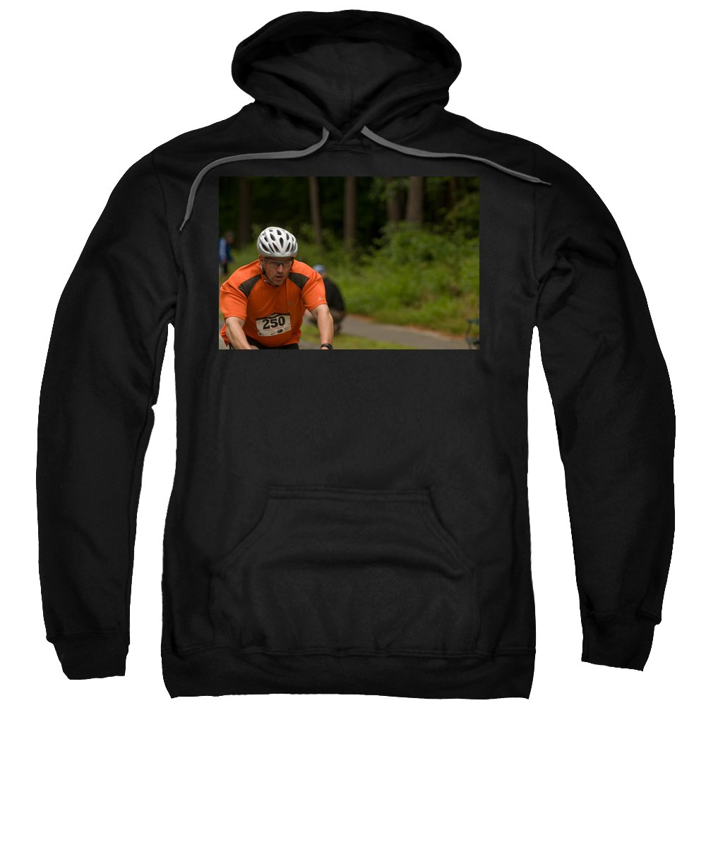 """nashua Sprint Y-triathlon"" Sweatshirt featuring the photograph Nashua Sprint Y-tri 250 by Paul Mangold"