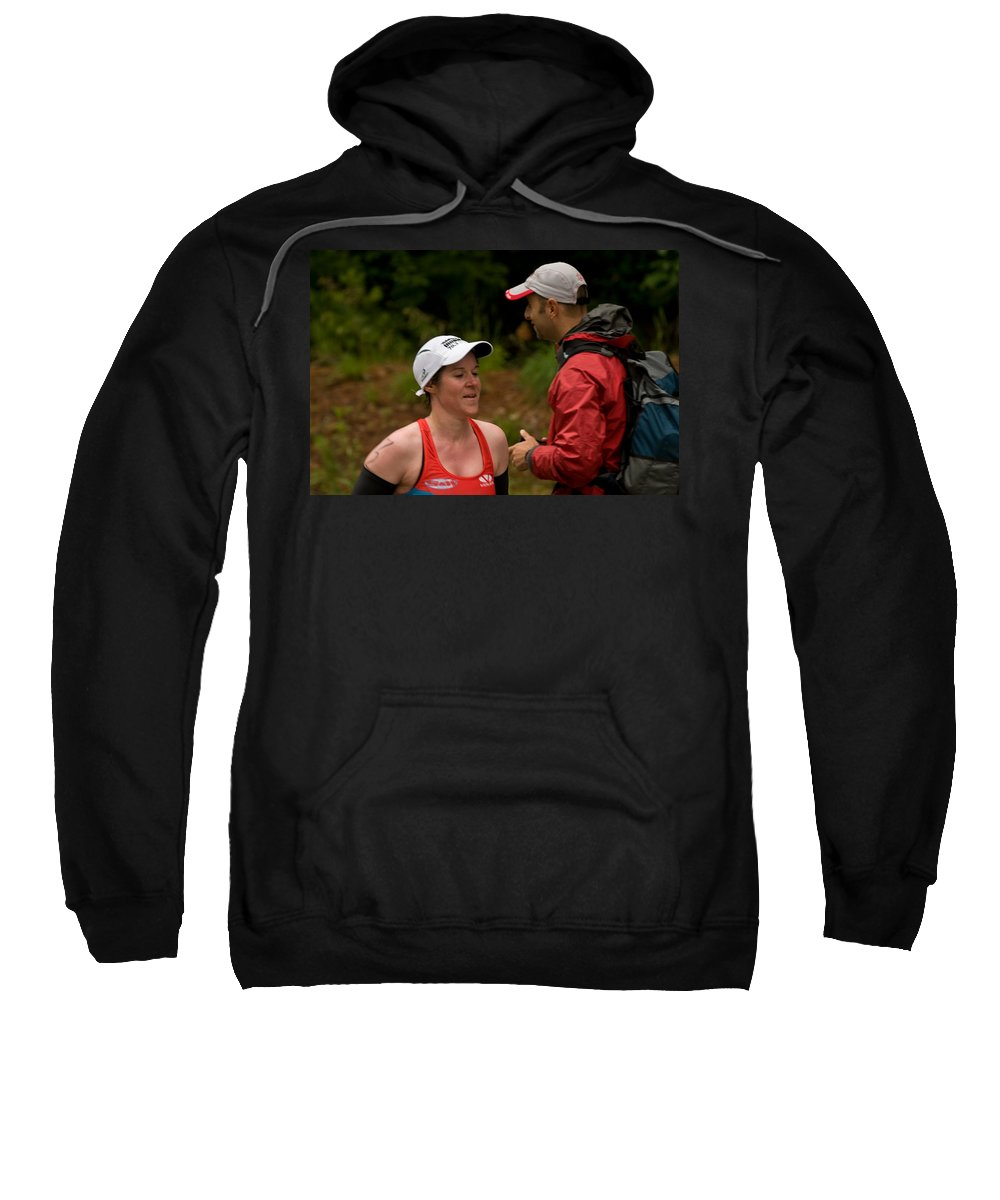 """""""nashua Sprint Y-triathlon"""" Sweatshirt featuring the photograph Nashua Sprint Y-tri 72 by Paul Mangold"""