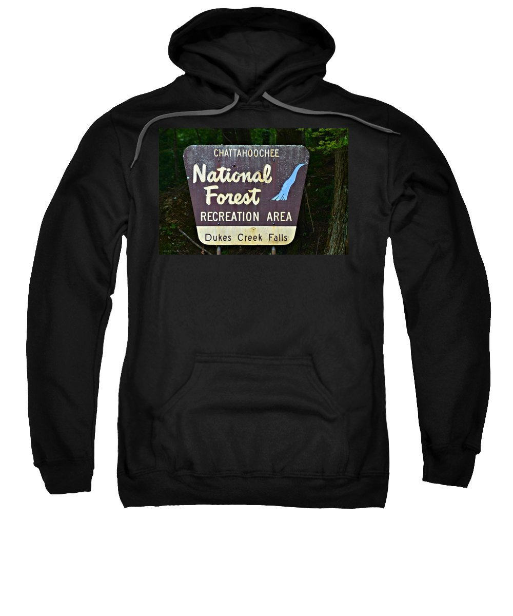 National Sweatshirt featuring the photograph National Forest Recreation Area by Tara Potts