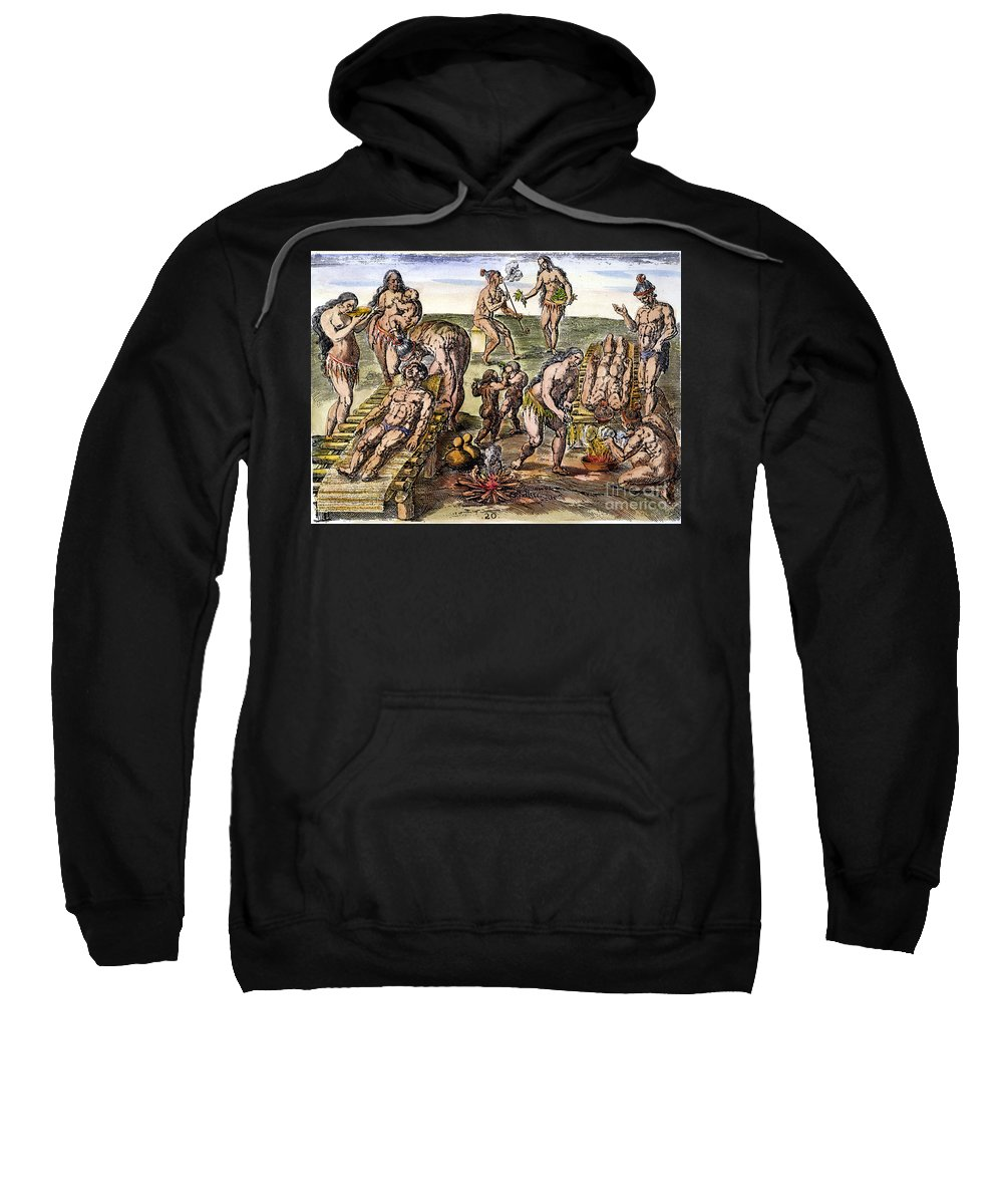 1591 Sweatshirt featuring the photograph Native Americans: Disease by Granger