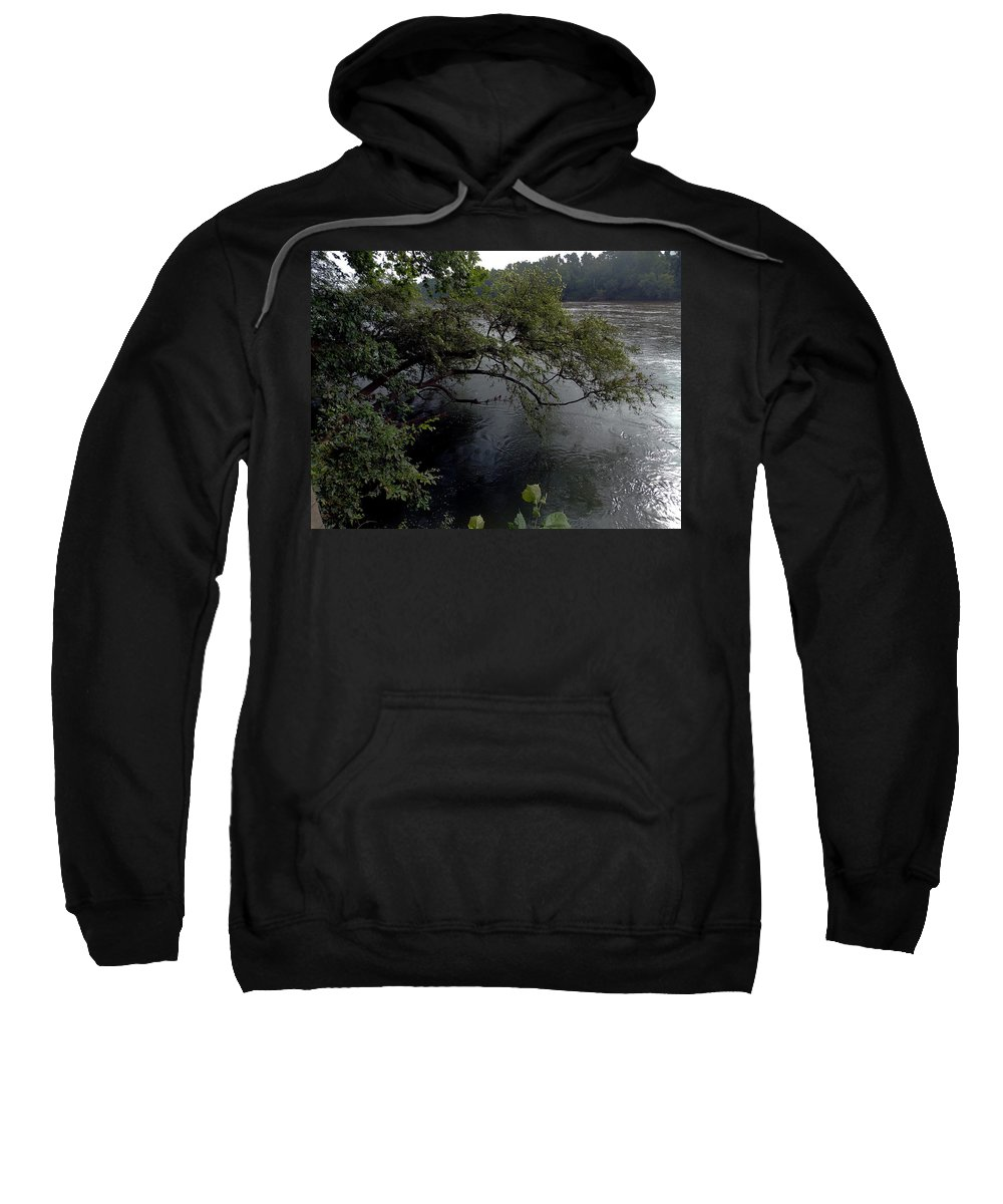 River Sweatshirt featuring the photograph Natural Protection by Skip Willits