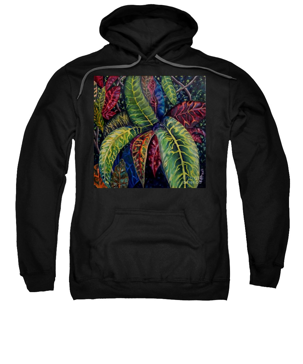Shrubs Sweatshirt featuring the painting Nature's Palette by Caroline Street