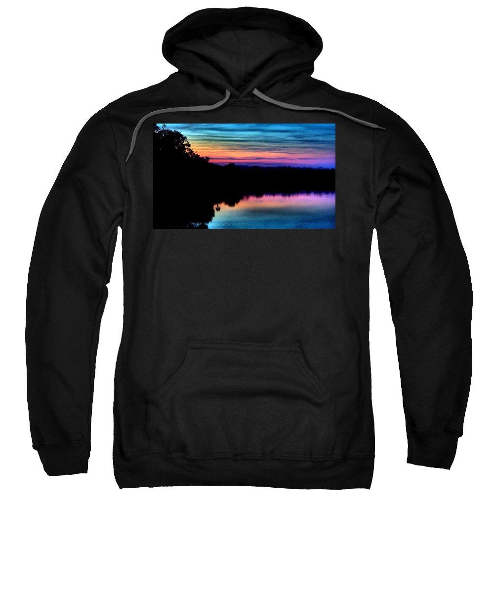 Rainbow Sweatshirt featuring the photograph Nature's Rainbow by Tyson Kinnison