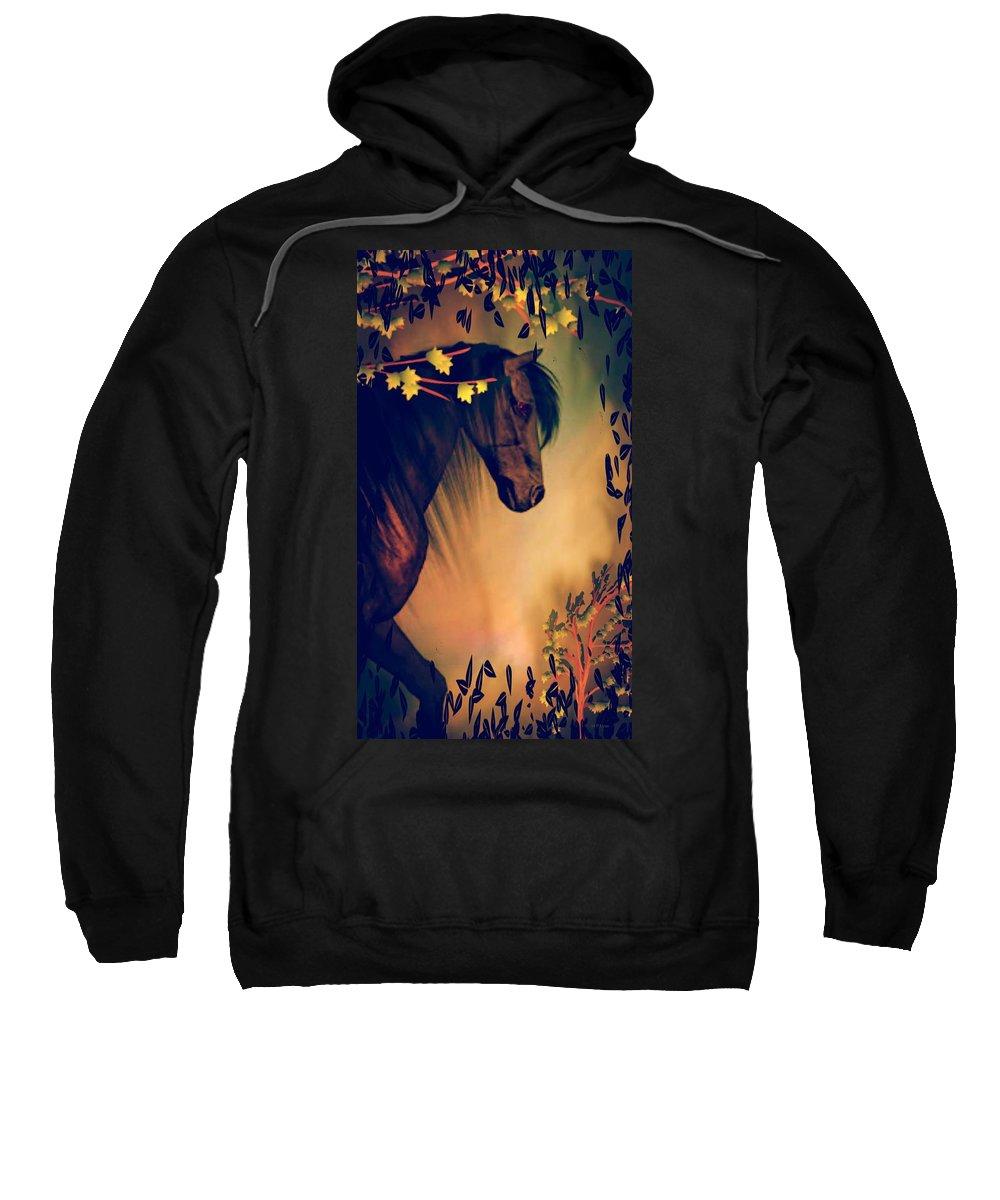 Necromancer Sweatshirt featuring the digital art Necromancer by Maria Urso