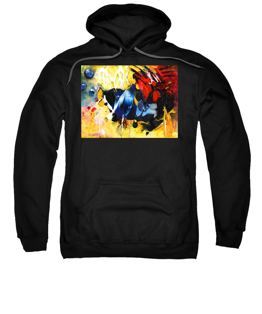 Acrylics Sweatshirt featuring the painting Nemo Finding Redbubble by Miki De Goodaboom