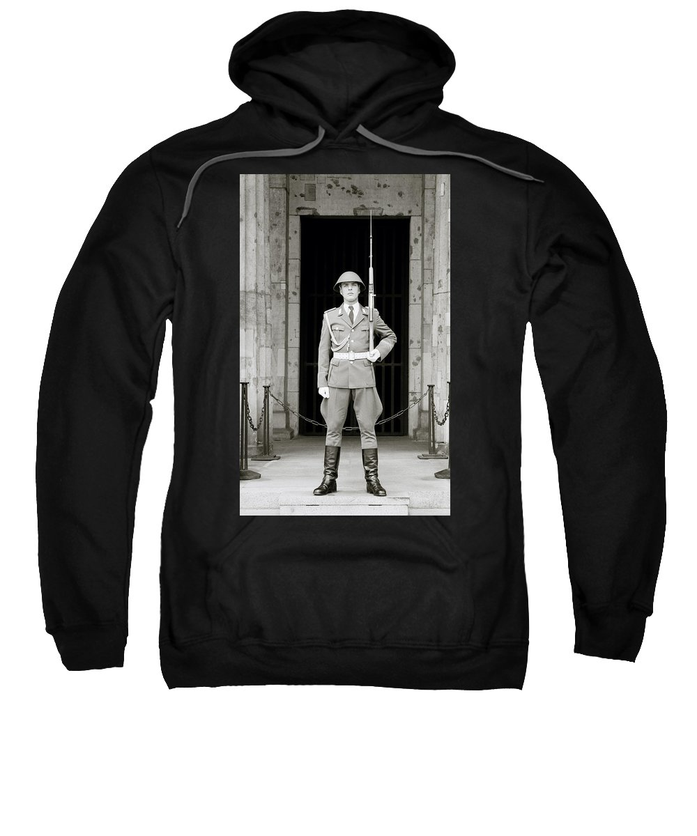 Soldier Sweatshirt featuring the photograph The Soldier by Shaun Higson