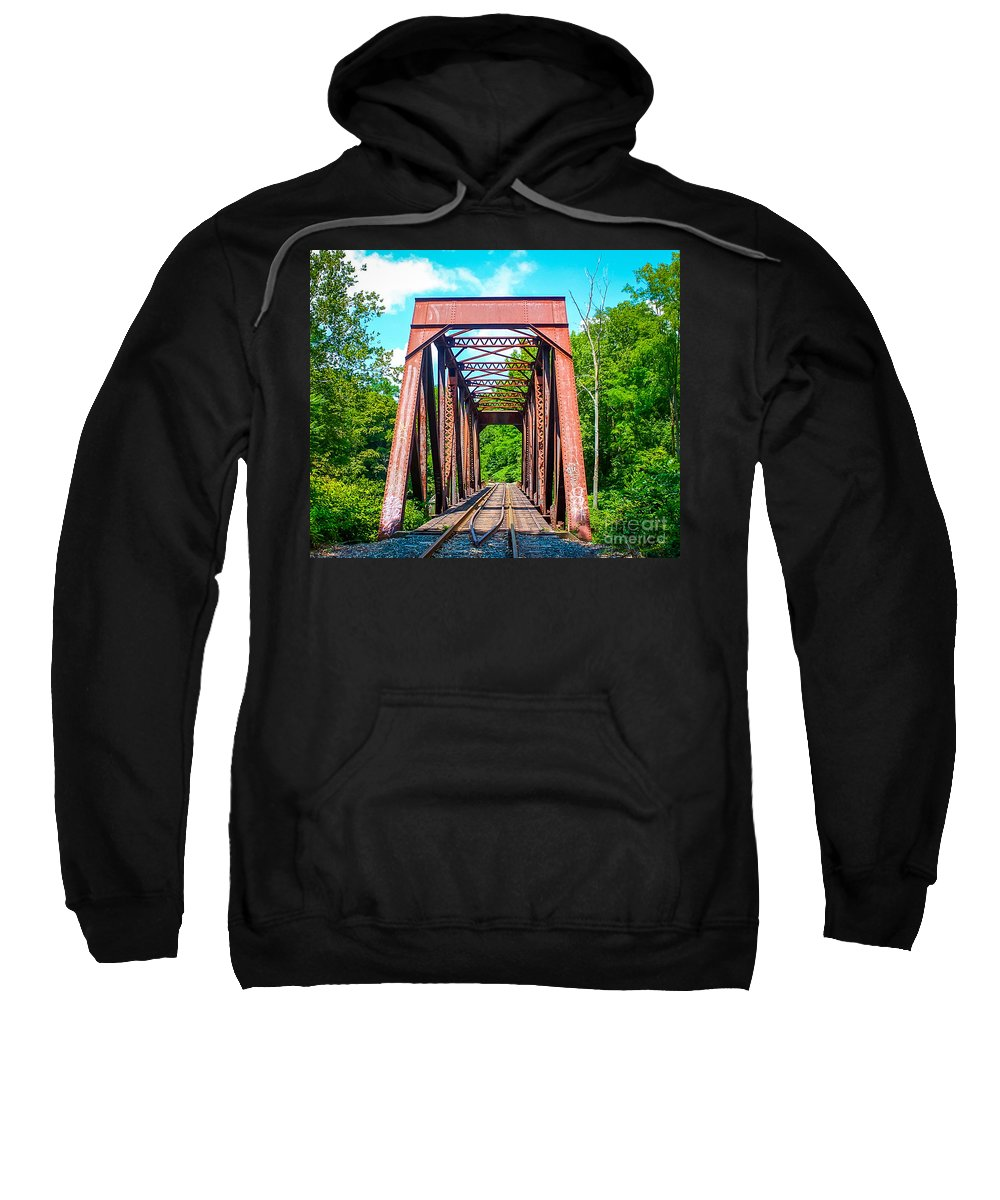 New England Sweatshirt featuring the photograph New England Bridge by DAC Photography