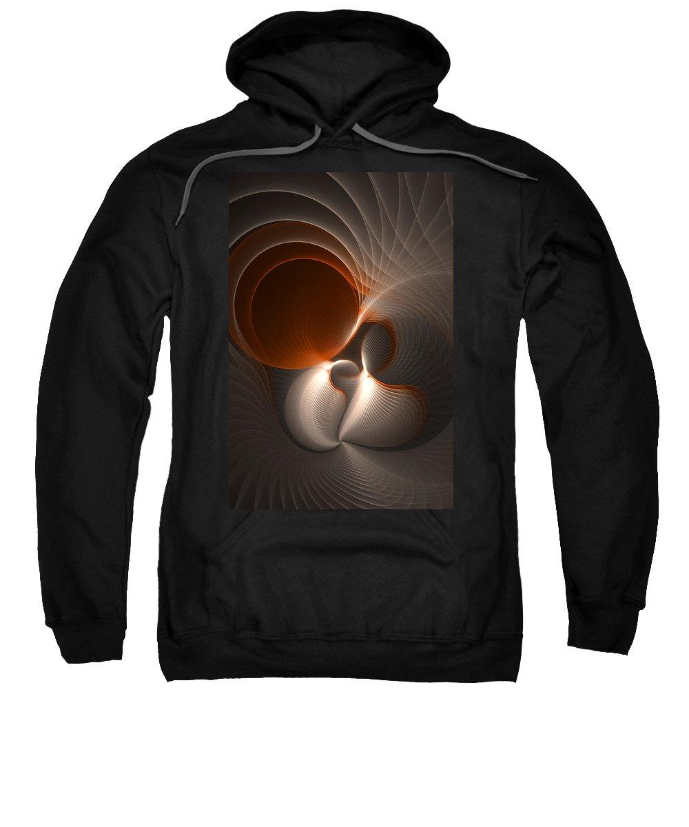 Abstract Sweatshirt featuring the digital art New Life by Gabiw Art