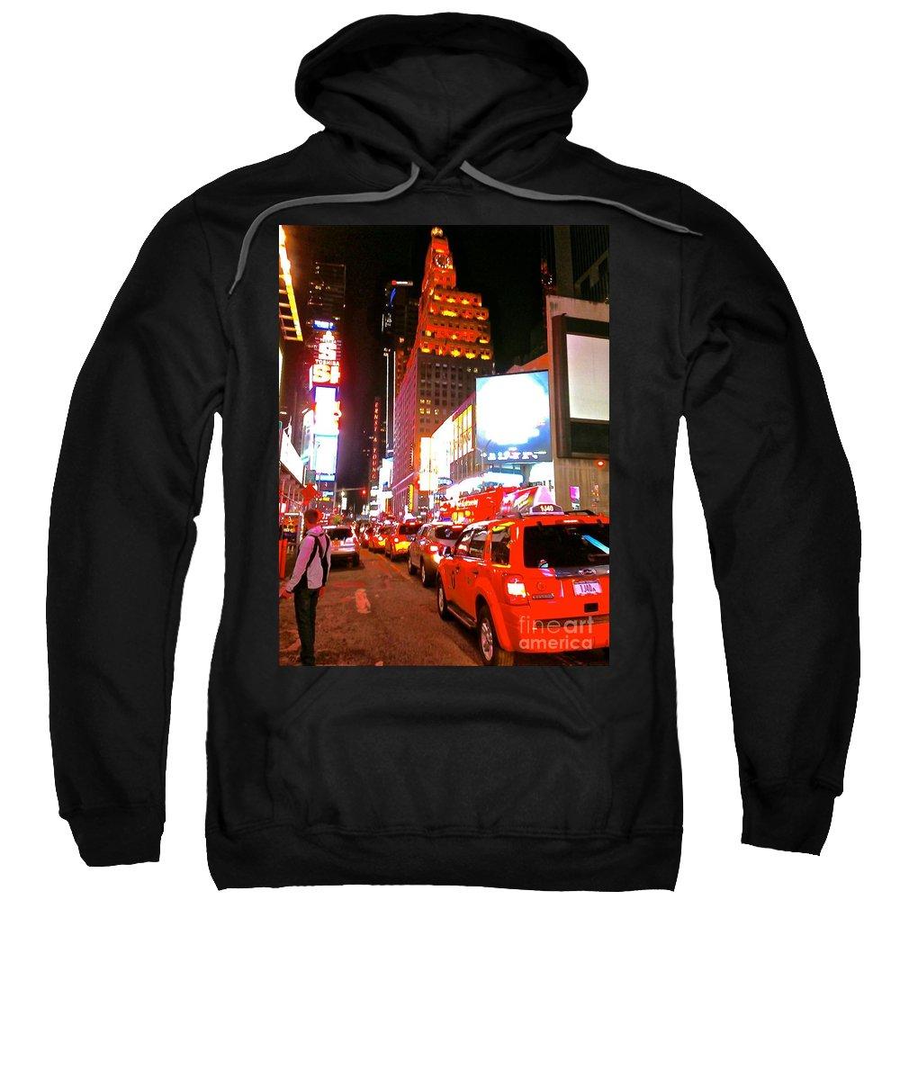 New York Sweatshirt featuring the photograph New York New York by Christy Gendalia