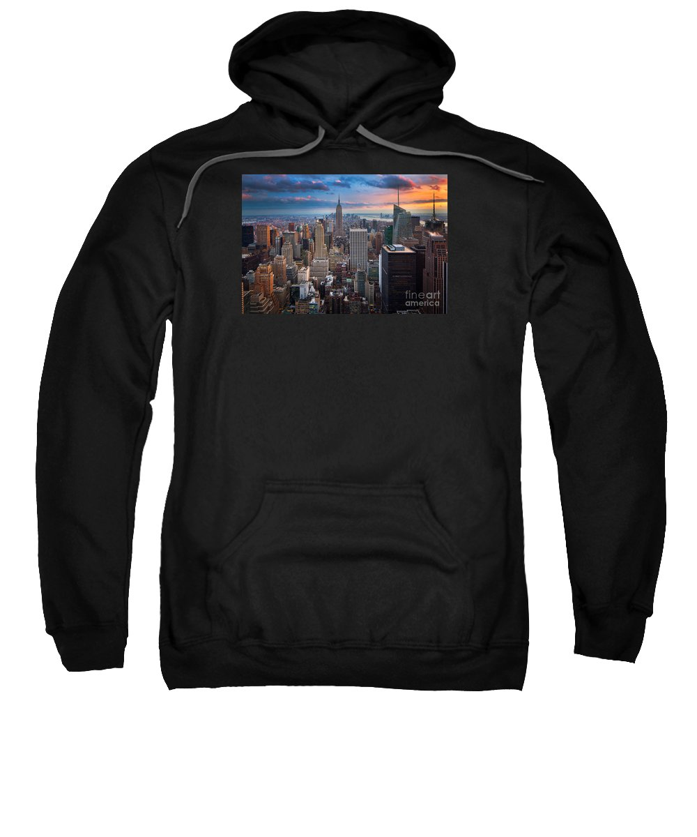 America Sweatshirt featuring the photograph New York New York by Inge Johnsson