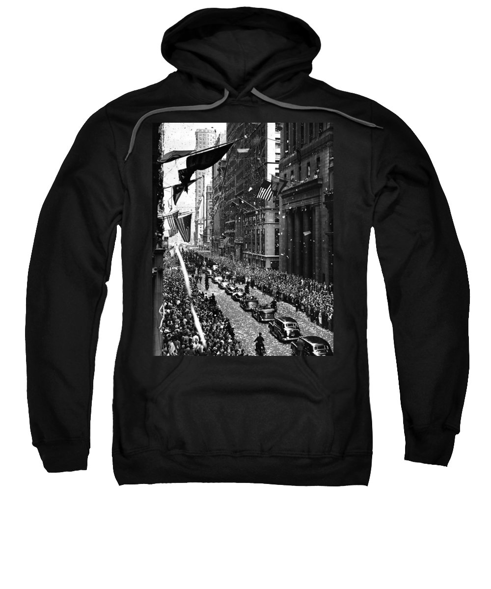 New York Sweatshirt featuring the photograph New York Ticker Tape Parade by Andrew Fare