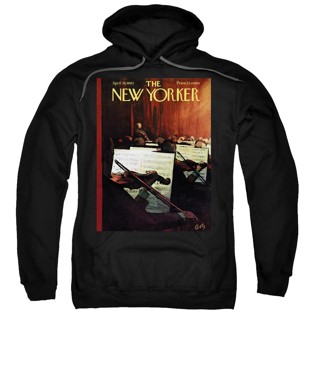 Concert Sweatshirt featuring the painting New Yorker April 28th, 1962 by Arthur Getz