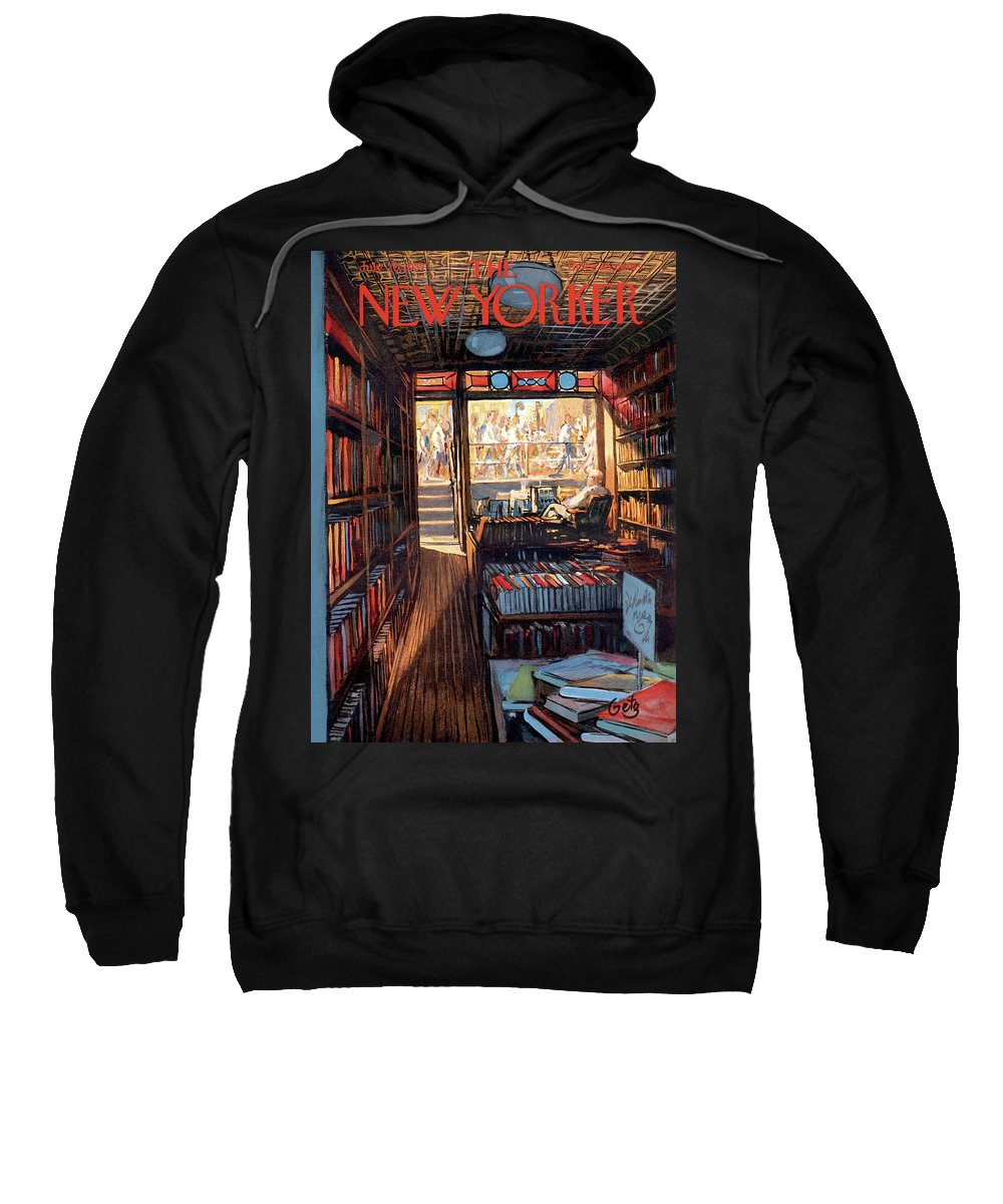 Arthur Getz Agt Sweatshirt featuring the painting New Yorker July 20th, 1957 by Arthur Getz
