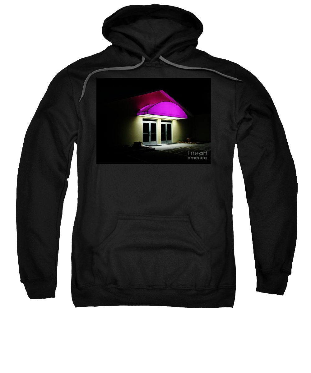 Closed Sweatshirt featuring the photograph Night by Ann Horn